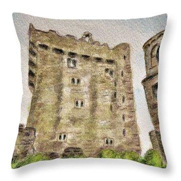 Castle Blarney Throw Pillow