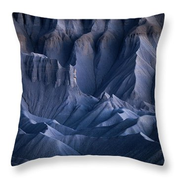 Throw Pillow featuring the photograph Castle Blue by Dustin LeFevre