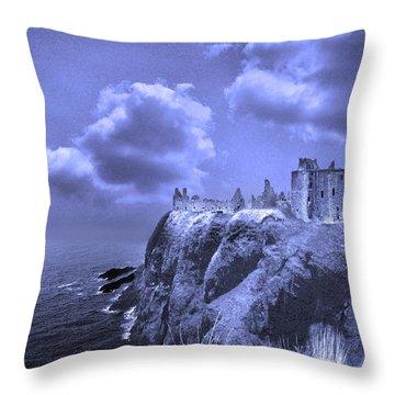 Castle Blue Throw Pillow