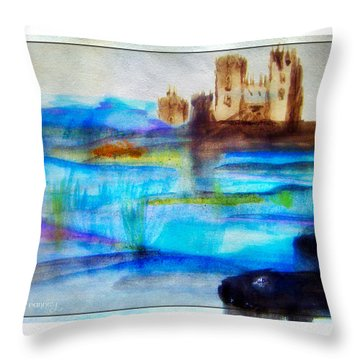Castle By Colleen Ranney Throw Pillow