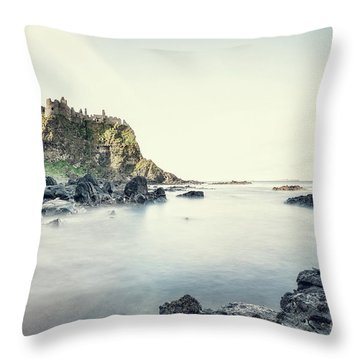 Castle By The Sea Throw Pillow