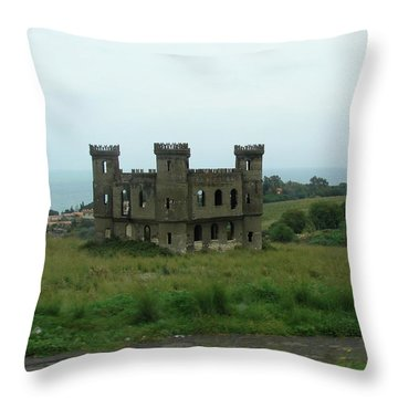 Castle Catania Sicily Throw Pillow