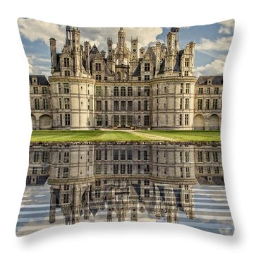Throw Pillow featuring the photograph Castle Chambord by Heiko Koehrer-Wagner