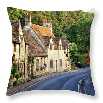 Throw Pillow featuring the photograph Castle Combe High Street by Michael Hope