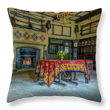 Throw Pillow featuring the photograph Castle Dining Room by Ian Mitchell