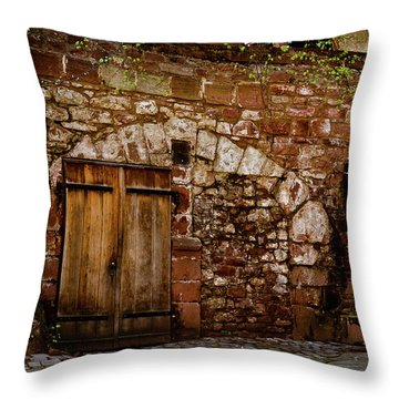 Castle Doors Throw Pillow