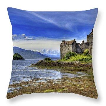 Castle Eilean Donan Throw Pillow