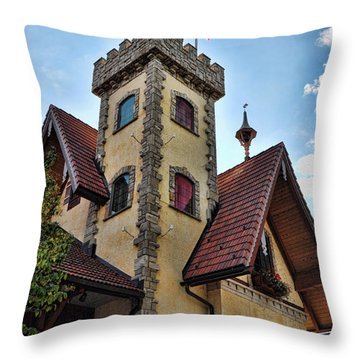 Castle Frankenmuth Throw Pillow by Chris Fleming