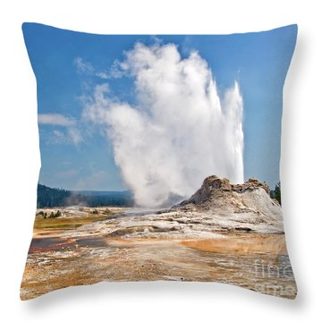 Castle Geyser Throw Pillow