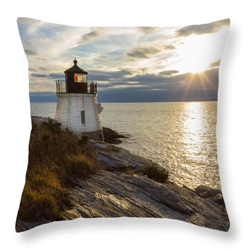 Castle Hill Light 2 Throw Pillow