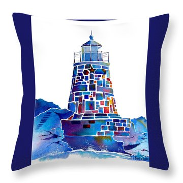 Castle Hill Newport Lighthouse Throw Pillow