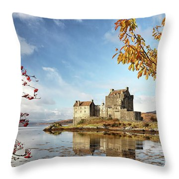 Throw Pillow featuring the photograph Castle In Autumn by Grant Glendinning