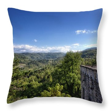 Castle In Chianti, Italy Throw Pillow