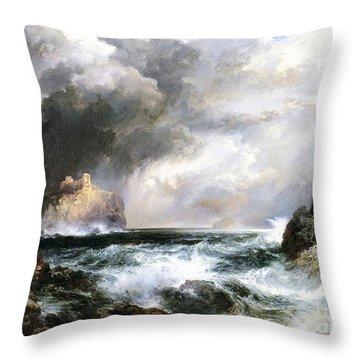 Castle In Scotland Throw Pillow by Thomas Moran
