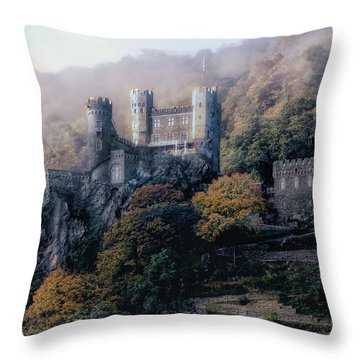 Throw Pillow featuring the photograph Castle In The Mist by Jim Hill