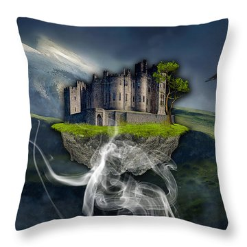 Castle In The Sky Art Throw Pillow by Marvin Blaine