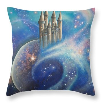 Castle In The Stars Throw Pillow