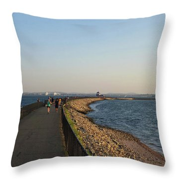 Castle Island Loop Trail Boston Ma Throw Pillow