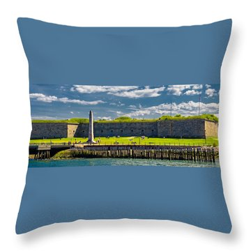 Castle Island Throw Pillow