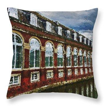 Throw Pillow featuring the digital art Castle Knife Painting by PixBreak Art