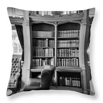 Throw Pillow featuring the photograph Castle Library by Christi Kraft