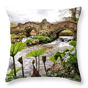 Castle Mill Bridge Throw Pillow by Shirley Mitchell