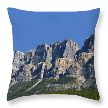 Castle Mountain Throw Pillow