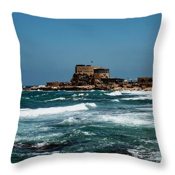 Throw Pillow featuring the photograph Castle Of Herod The Great by Mae Wertz