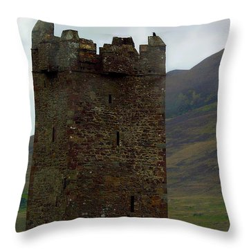 Castle Of The Pirate Queen Throw Pillow by Patricia Griffin Brett