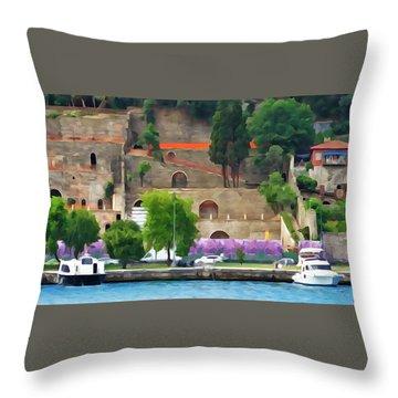 Castle On The Bosphorus Throw Pillow