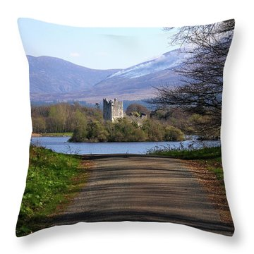 Castle On The Lakes Throw Pillow