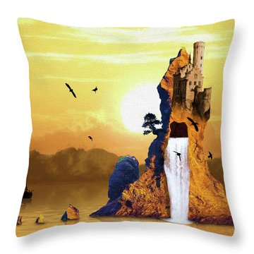 Castle Rising Throw Pillow
