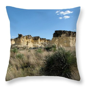Castle Rock Badlands Throw Pillow