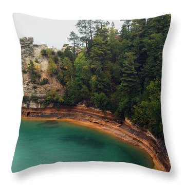 Castle Rock Throw Pillow by Michael Peychich