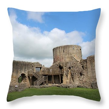 Castle Ruins Throw Pillow