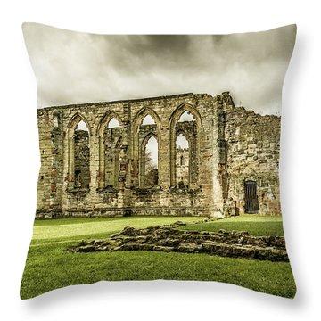Castle Ruins Throw Pillow