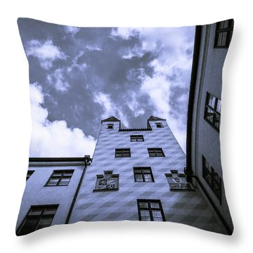 Castle Throw Pillow by Sergey Simanovsky