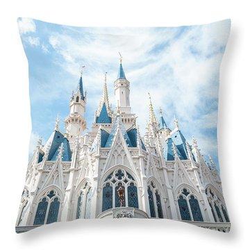 Castle Sky Throw Pillow