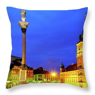Throw Pillow featuring the photograph Castle Square by Fabrizio Troiani