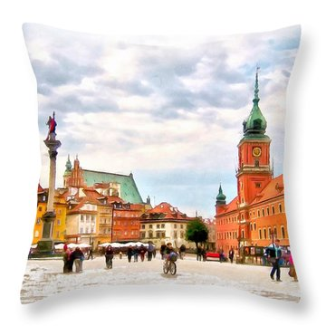 Castle Square, Warsaw Throw Pillow