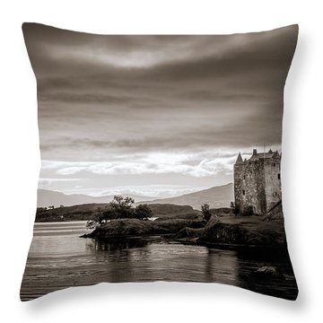Castle Stalker 1 Throw Pillow by Niels Nielsen