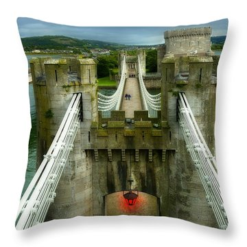 Castle Throw Pillow by Svetlana Sewell