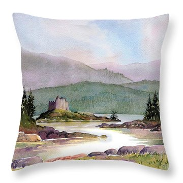 Castle Tioram  Throw Pillow by Anthony Forster