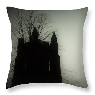 Castle Tower Throw Pillow by Joyce Wasser