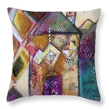 Castle Tower Throw Pillow