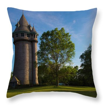 Castle Turret On The Green Throw Pillow