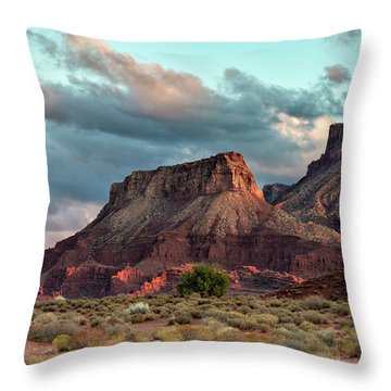 Castle Valley Finale Throw Pillow