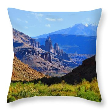 Castle Valley Throw Pillow