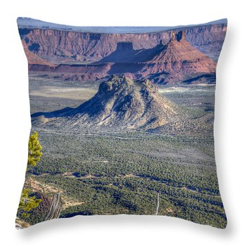 Throw Pillow featuring the photograph Castle Valley Overlook by Alan Toepfer