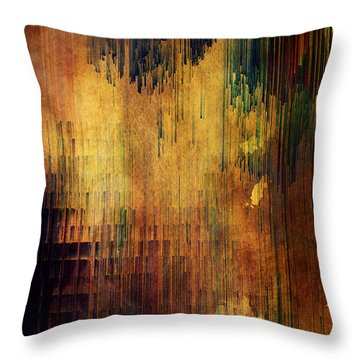 Castle View Planet Pixel Throw Pillow